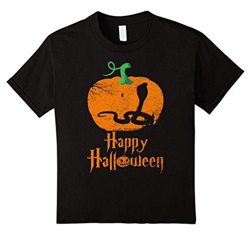 Kids KING COBRA In Pumpkin Happy Halloween T-shirt KING COBRA 10 Black