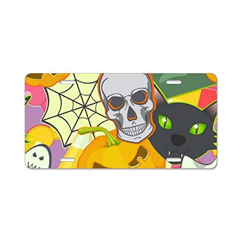 Halloween Symbols Car Plate Tag Accessories Metal License