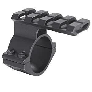 """Ultimate Arms Gear 1"""" Scope Ring With Back-Up Sight-Light-Laser Tactical Rail"""