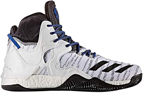 adidas Men's D Rose 7 Primeknit Basketball Shoe, White/Black/Scarlet, 13 M US