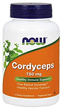 Now Cordyceps 750 mg, 200 Veg Capsules