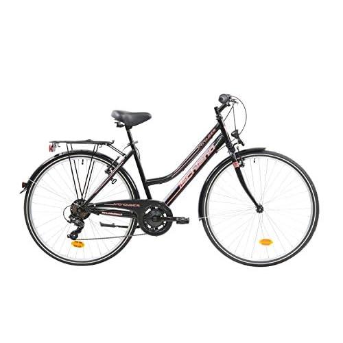 F.lli Schiano Voyager Bicicleta Trekking, Women's, Negro-Rojo, 28'' a buen precio
