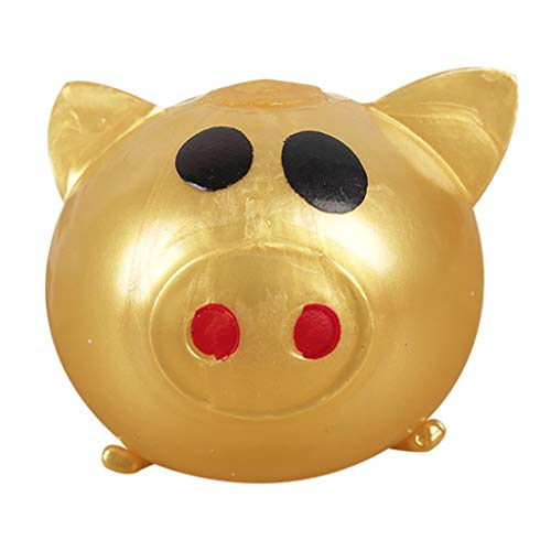 Hisoul Jello Pig Decompression Toy Squeeze Super Cute Anti Stress Splat Water Pig Ball Vent Toy Venting Sticky Pig Toy Relieve Stress Cure Toy ( Gold)]()