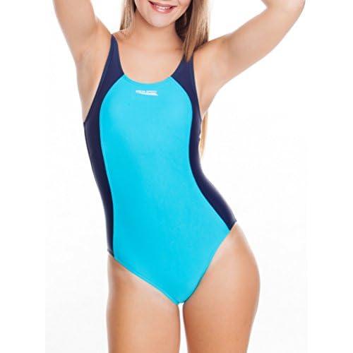 Aqua speed ® angela maillot dameneinteiler schwimmrücken sportträger pro back 38 Bleu - blau / marine / 24