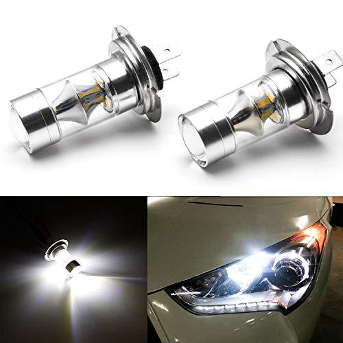 - H7 LED DRL Bulb - Xotic Tech 2 x CREE LED Light Bulb for Hyundai Accent Sonata Veloster Genesis 2010-2014 Daytime Running Light Lamp - High Power 100W White