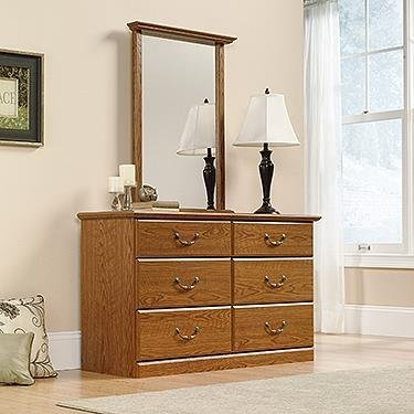 Orchard Hills 6 Drawer Dresser in Carolina Oak Finish