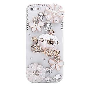 Conseguir Calabaza de la joyería del coche cubierto de nuevo caso para el iPhone 5/5S (colores surtidos) , Blanco