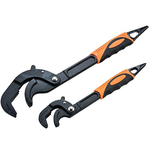 Hand Tools sets - 2pcs Portable Adjustable Multi-function Adjustable Wrench Universal Wrench A Set Of Keys Hand Tools Multitool Spanners - SIZE 30-60nm from CHOME