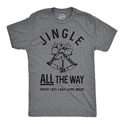 Crazy Dog T-Shirts Mens Jingle All The Way Tshirt Funny Christmas Holiday Tee for Guys