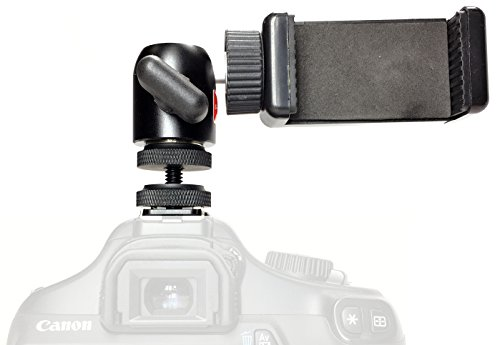 iShot Pro Remora S1 iPhone Universal Smartphone Tripod Monopod SLR Camera Flash Hot Shoe Mount + 360° Swivel Ball Head - Compatible with iPhone Samsung Galaxy Nexus LG HTC and Others from 2.2-3.2'' by iShot Pro (Image #1)