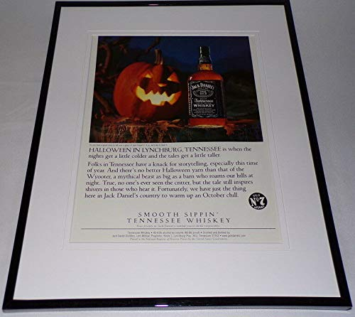 1999 Jack Daniel's Whiskey/Halloween Framed 11x14 ORIGINAL Advertisement]()