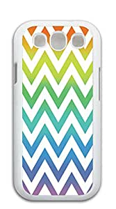 Design Phone Protective Cover galaxy s3 phone cases I9300 - Green, yellow and black striped red triangle