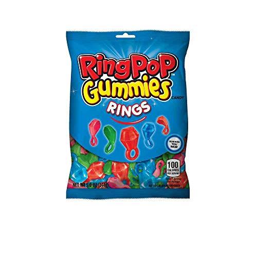 Ring Pop Gummy Rings - Peg Bag, 5 Ounce -- 12 per case.