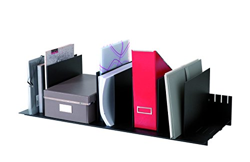 (PaperFlow 31-4/7-Inch Individualized Vertical Desktop Organizer, 10 Separators, Black)