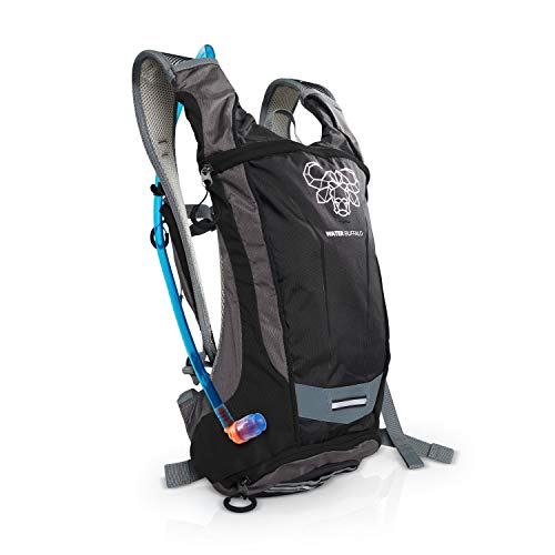 Water Buffalo Hydration Backpack | Hydration Pack & 2 Liter BPA Free Bladder | Multiple Pockets For All Your Essentials