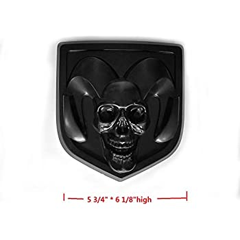 Amazon.com: 1pc OEM Rear Tailgate EMBLEM BADGE 3D Skull