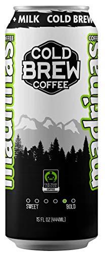 Madrinas Coffee Fair Trade Organic Cold Brew Plus Milk, 15 Oz (Case of 12)