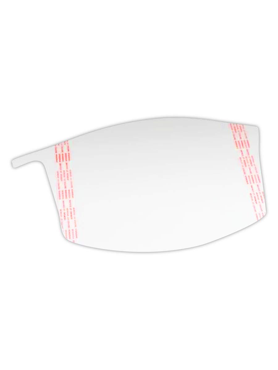 3M 50051131374527 Versaflo Peel-Off Visor Cover, Standard, Clear (Pack of 40)