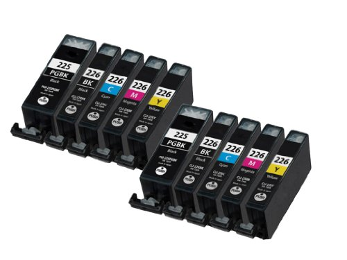 HI-VISION® 10 Pack Compatible Canon PGI-225 CLI-226 Ink Cartridge Replacement (Large Black,Black,Cyan,Yellow,Magenta) for PIXMA iP4820,iX6520,MG5320,MG5120,MG6120 Wireless,MG8120,MX892,MG6220
