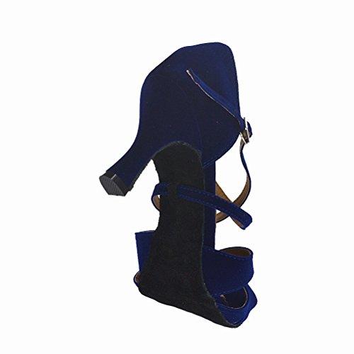 d731f22451e16 durable service Misu Women's Peep toe Sandals Latin Salsa Tango ...