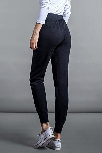 La Mujer Pantalones De Deporte Pantalones De Tobillo - Longitud Para Corredores Black