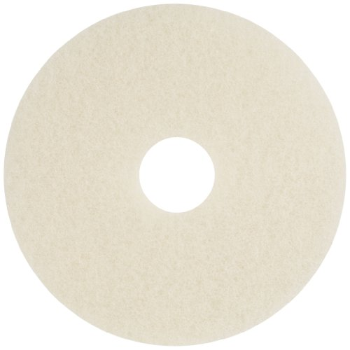 Glit 20282 TK Polyester Blend Beige Burnishing Floor Pad, Synthetic Blend Resin, Kaolin Grit, 16