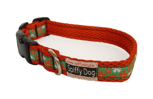 Quick Dry Red Hawaiian Air Dog Collar Size Small