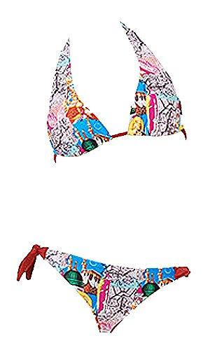 eleMar Damen Bikini, Triangel, Neckholder, B-Cup, 34-42, NEU Rot