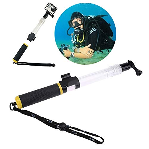 (S-Electronic-Store - 62cmTransparent Stretchable Floating Buoyancy Stick Diving Underwater Shooting+Remote Control Clip for GoPro)