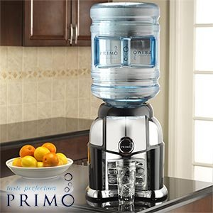 Primo Tabletop Water Dispenser Fits Most 3 To 5 Gallon Bottles Black U0026  Chrome Painted Finish