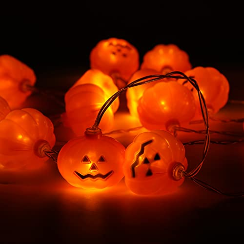 VGOODALL Pumpkin String Lights,20 LED 2 Modes Halloween String Lights Holiday Lights for Outdoor Indoor Party Decor