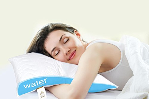 Waterbase Pillow Adjustable Water Pillow, 500g Polyester Fiber Filling, with...