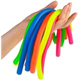 Colorful Sensory Fidget Stretch Toys-Stretchy Strings Fidget Toy for Relaxing Therapy (12 Pack 6 Colors) - For Adults and kids-Stress Toy Helps with ADHD ADD OCD Autism Bad Habits & More