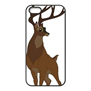 iPhone 5,5S Phone Case Black Bambi Great Prince of the Forest DZW9559800