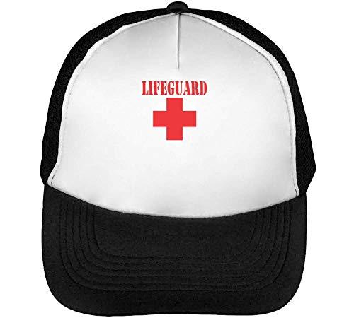 Lifeguard Snapback Negro Blanco Beisbol Gorras Hombre EEqT8w