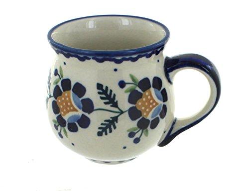 Blue Rose Polish Pottery Sunflower Bubble Mug