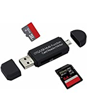 SD Card Reader, BIG HOUSE USB-C OTG to to USB 2.0 Adapter Micro SD TF Card Reader Multi-Function Memory Card Reader for Smart Phone Tablet PC MacBook Male Connector