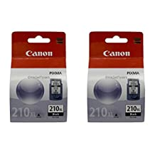 Genuine Canon PG-210XL HIGH Yield TWIN Ink Cartridge Value Pack, Black, 2 Pack