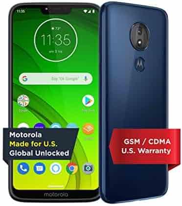 Moto G7 Power with Alexa Push-to-Talk – Unlocked – 32 GB – Marine Blue (US Warranty) – Verizon, AT&T, T–Mobile, Sprint, Boost, Cricket, & Metro