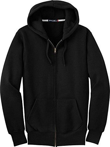 Sport-Tek Men's Super Heavyweight Full Zip Hooded Sweatshirt S Black