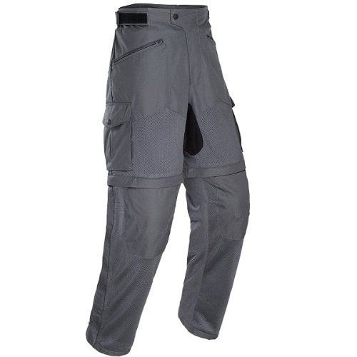 Tourmaster Mens Tracker Air Motorcycle Pants Gunmetal Silver Extra Large XL