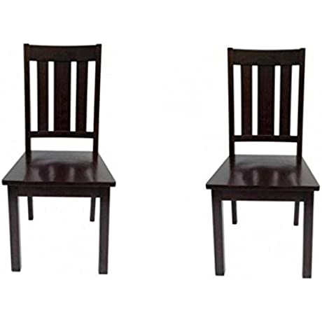 Better Homes And Gardens Mission Style Wooden Chairs Set Of 2 Mocha Espresso