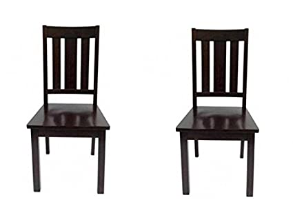 Better Homes and Gardens Mission Style Wooden Chairs, Set of 2, Mocha,  Espresso - Amazon.com : Better Homes And Gardens Mission Style Wooden Chairs