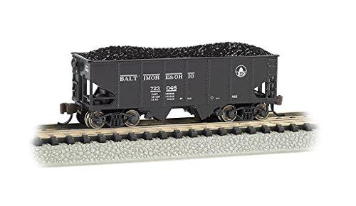 Bachmann Usra 55-Ton 2-Bay Hopper Car-B&O #723046 N Scale, Prototypical Black