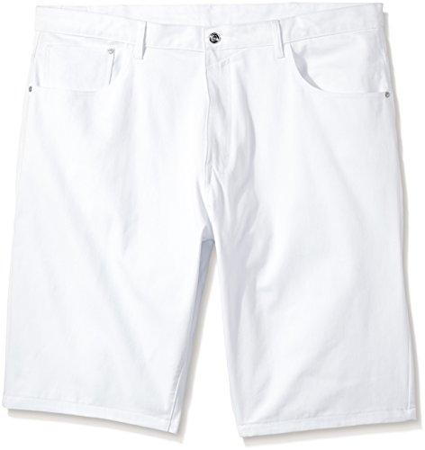 (Sean John Men's Big Angled Coin Pocket Short, Bright White, 38 Large/Tall)