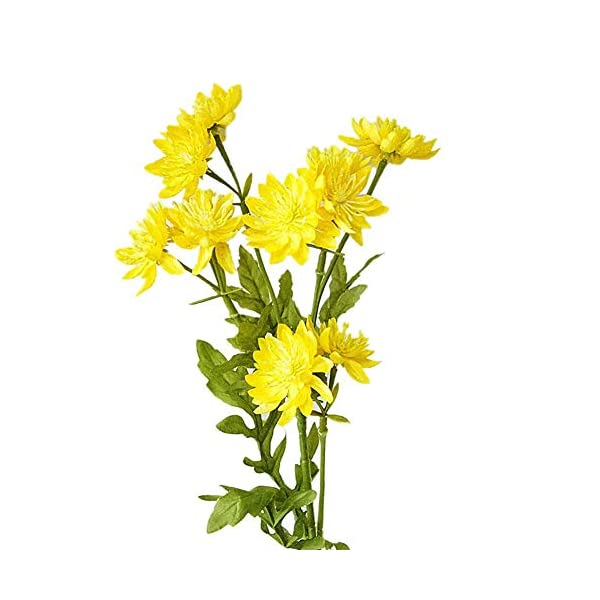 MARJON Flowers1Pc Artificial Chrysanthemum Garden Fake Flower DIY Wedding Party Home Decor Yellow