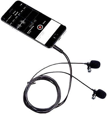 Movo PM20 Micrófono Doble de Solapa Corbata Condensador ...
