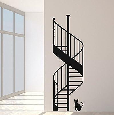 budhasuite Vinilo Decorativo Escalera Caracol.S .(90x30cm.Aprox.) Color Negro.: Amazon.es: Hogar
