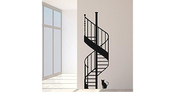 budhasuite Vinilo Decorativo Escalera Caracol .(180x60cm.Aprox.) Color Negro.: Amazon.es: Hogar