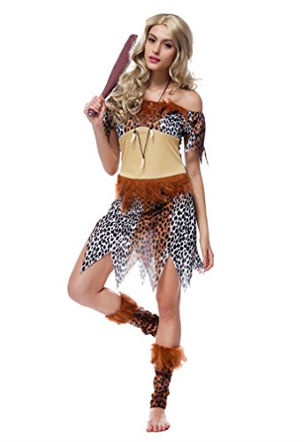 [Honeystore Women's Adult Native American Indian Costume with Headband Leopard] (Ideas For Homemade Indian Costumes)